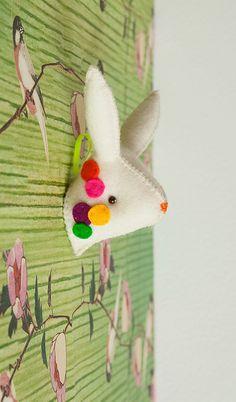 Carrousel - felt mounted bunny head | Flickr: partage de photos!