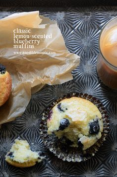 Classic Lemon-Scented Blueberry Muffins Recipe #breakfast #snacks