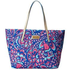 Lilly Pulitzer Resort Tote ($138) ❤ liked on Polyvore featuring bags, handbags, tote bags, beach bag, purses, brewster blue reel me in, tote handbags, zip top tote, handbags totes and beach tote bags