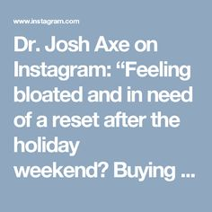 "Dr. Josh Axe on Instagram: ""Feeling bloated and in need of a reset after the holiday weekend? Buying those fad, overpriced detox kits is not the way to do it. Instead, eating fresh, whole foods will help you feel great, both on the inside and outside. That's why I highly recommend my Secret Cucumber Detox Soup recipe. #holidaydetox #foodismedicine #realfood #draxerecipes"""