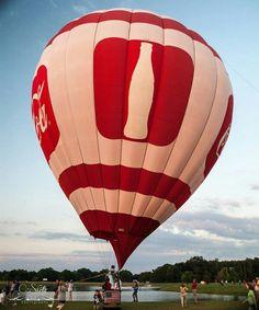 Orange Beach Coca~Cola hot air balloon.
