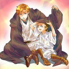Tags: Anime, Pixiv, Star Wars, Anakin Skywalker, Obi-wan Kenobi