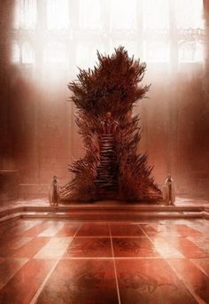 IronThrone by  artist Marc Simonetti (R.R. Martin believes this is the closest rendering to his imagination)