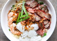 Vietnamese Combination Dry Egg Noodle Recipe (Mi Kho Thap Cam) — Vietnamese Home Cooking Recipes Vietnamese Sausage, Vietnamese Grilled Pork, Vietnamese Cuisine, Vietnamese Recipes, Asian Recipes, Ethnic Recipes, Vietnamese Restaurants, Beef Noodle Soup, Beef And Noodles
