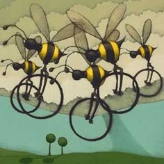 justbeefriendly on Instagram: 'Beecycles' by Matt Lively. Bee-utiful! #bees #nature #art #design #beauty
