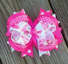 Ballerina Spiked Layered Hair Bow by MiaBellaCrafting on Etsy