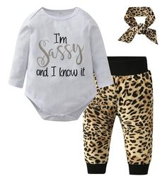 I'm Sassy and I Know It Baby Girl Outfit
