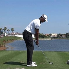 Tiger woods golf swing. Watch how tiger just drops his arms straight down as if they are lifeless. Then once he reaches the slot position he accelerates the club head using his weight shift to his left side.