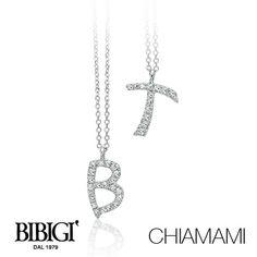 #Bibigi | Collezione #Chiamami | Collane in oro bianco e diamanti