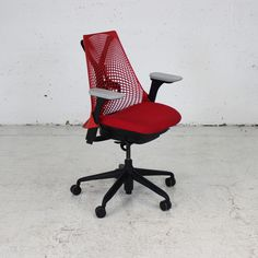 Red Herman Miller Sayl Chair