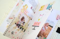 TN Tutorial Scrapbook Werkstatt - Maggie Holmes / Crate Paper `Carousel' - Ulrike Dold Crate Paper, Crates, Polaroid Film, Tutorial, Scrapbooking, Notebook, Scrapbooks, The Notebook, Memory Books