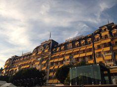 Fairmont Le Montreux Palace, Montreux, Switzerland Switzerland, Palace, Louvre, Building, Travel, Viajes, Buildings, Palaces, Destinations