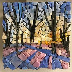 CMS 4x4 Project #chicagomosaicschool #americanmosaics #mosaicworkshop #mosaics #artedgewater #artclasseschicago