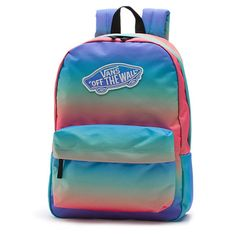 Realm Backpack ($35) ❤ liked on Polyvore featuring bags, backpacks, accessories, blue, rainbow, backpack bags, polyester backpack, knapsack bag, logo bags and rainbow bag