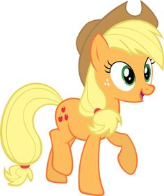 "Applejack is a cowgirl Earth pony and is one of the seven main protagonists in My Little Pony Friendship is Magic. She lives and works at Sweet Apple Acres farm with her grandmother Granny Smith, brother Big Macintosh, little sister Apple Bloom, and a pet dog named Winona. She represents the element of honesty. She is hardworking and she can be very stubborn when it comes to help. She is voiced by Sandy Duncan (Who also voiced Firefly) in Generation 1. and by Ashleigh Ball in ""Friendship..."