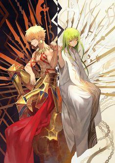 Archer (Gilgamesh) & Lancer (Endiku) - Fate/Strange Fake - Fate/Grand Order
