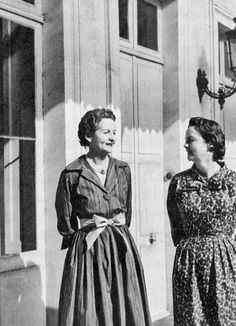 Nancy and Jessica Mitford in the 1960s.