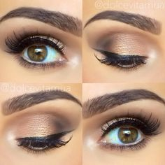 Look from Too Faced Chocolate Bar Palette
