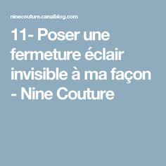 11- Poser une fermeture éclair invisible à ma façon - Nine Couture