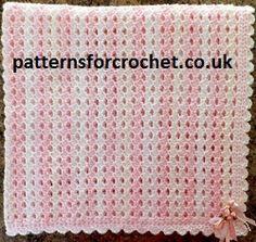 Free baby crochet pattern for blanket from http://www.patternsforcrochet.co.uk/baby-afghan-blanket-usa.html sweet pattern.