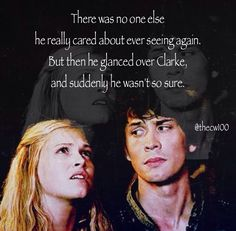 Bellamy and Clarke in the book #the100 #bellarke #KassMorgan my single favorite part of the book<3