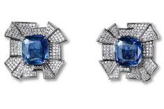 Jack Vartanian Sapphire and Diamond Gold Earrings Weird Jewelry, Gems Jewelry, Jewelry Art, Bridal Jewelry, Gemstone Jewelry, Jewelry Accessories, Fine Jewelry, Jewelry Design, Lotus Jewelry