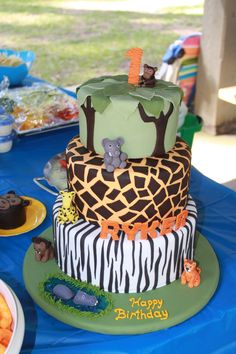 Possible 1st Birthday Cake for the safari theme