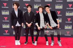 Bryan Mouque, Jos Canela, Alonso Villalpando and Alan Navarro of CD9 attend Telemundo's Latin American Music Awards at the Dolby Theatre on October 8, 2015 in Hollywood, California.
