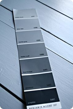 Warm Benjamin Moore grays - Pebble Beach!!! Used it in the nursery!!! :)