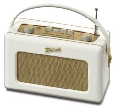 White #retro #shabby #chic 1950's inspired radio Roberts Radio http://www.robertsradio.co.uk/catalogue/revival/index.htm