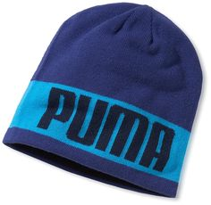 2ee5b1db158 Benefit from two great looks on the golf course with this high quality  womens blue cliffe reversible golf beanie hat by Puma!