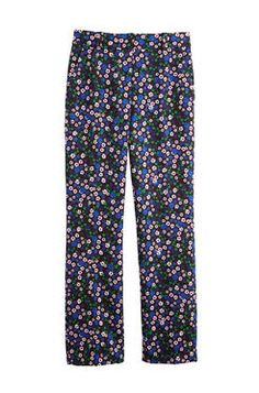Juliet Fleur Straight Leg Pant These cropped, straight leg trousers are covered in a dainty floral that abounds throughout this season's collection. High waist.