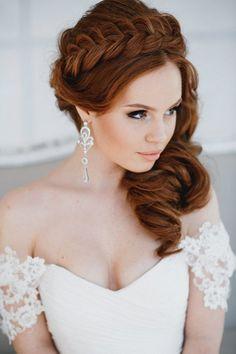 braided wedding crown hairstyle