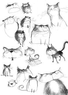 Poly Bernatene cats #illustration