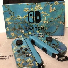 Almond Blossoms By Van Gogh Skin For The Nintendo Switch Nintendo Switch Game Console, Nintendo Switch Case, Nintendo Switch Accessories, Gaming Accessories, Game Room Design, Cool Electronics, Gamer Room, Electronic Gifts, Almond Blossom