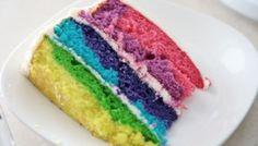 Giant Vegan Neon Rainbow Cake