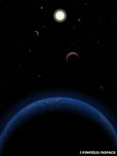 "Our nearest single Sun-like star hosts five planets - one of which is in the ""habitable zone"" where liquid water can exist, astronomers say."