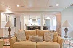 Classic Coastal Colonial Renovation - the Great Room traditional family room - love the ceiling...
