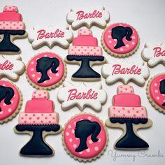 "Jennifer Norman Parham on Instagram: ""Happy Birthday....Barbie Style!!! #myyummycrumbs #barbiecookies"" Barbie Theme Party, Barbie Birthday, Happy Birthday, Birthday Ideas, Cake Cookies, Sugar Cookies, Decorated Cookies, Cookie Decorating, Painted Rocks"