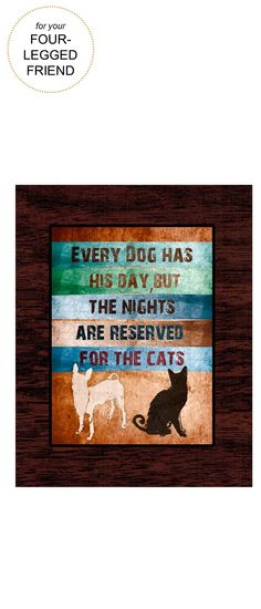 Gifts for four-legged Friends | Greenleaf Art Dogs & Cats Art Plaque| Very Merry Gift Guide