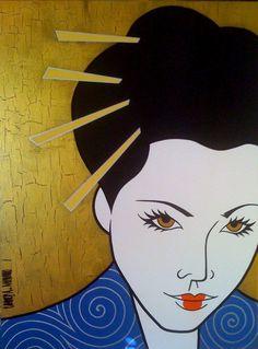 """""""La Geisha""""   Acrylic on canvas, 40"""" X 30""""   **Available as a limited edition giclee on canvas**"""