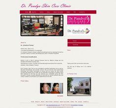Dr. Pandya Skin Care Clinic Udaipur ,Hospital Medical Website Design and Development, Web Design for Hospital and Medical Web Sites udaipur rajasthan india | Dimira Infotech