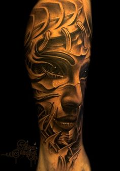 Superb shading and detail. Love the use of white ink here. #tattoo