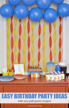 Check out these Easy Birthday Party Ideas. From simple birthday decor ...