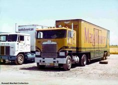 This Mayflower truck from the REO/Diamond Motor Company was captured at a truck stop in 1976.
