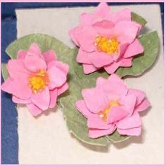 how to: water lilies by Kathy Brindle (AIM #47, page 40)