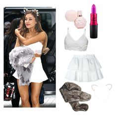 """Ariana Grande 🎀"" by laianamjohnson on Polyvore featuring MAC Cosmetics, Alexander McQueen and Forever 21"