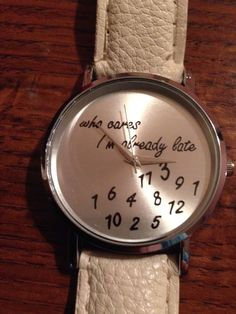 "New ""WHO CARES I'M ALREADY LATE"" Beige/Silver Watch #Fashion"