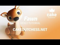 How to make a cute Fawn Cake Topper - Cake Decorating Tutorial - YouTube