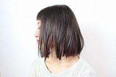. 撮影#しまカラー #BALANCE#一眼レフ #インナーカラー#パープル #切りっぱなしボブ #ウェッティ#オイル #ストレートヘア#むすがった(笑) #bob #brandcut#purple #straighthair